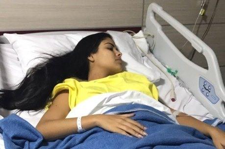 Munik Nunes foi hospitalizada em hospital para realização de tratamento estético (Foto: Reprodução)