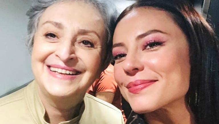 Paolla Oliveira e Ana Lucia Torre nos bastidores de A Dona do Pedaço (Reprodução: Instagram)