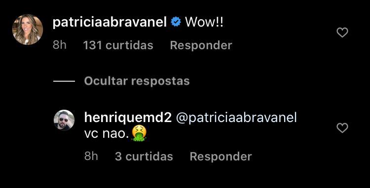 Patrícia Abravanel criticada por internauta (Foto: Reprodução/Instagram)