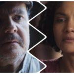 Foto montagem feita pelo TV Foco com Alfonso e Shirley separados na trama da Globo Éramos Seis
