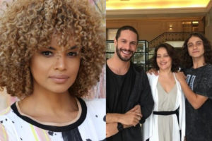 Silvia (Lucy Ramos) perdoa Merlin (Cadu Libonatti) e conhece Nívea (Claudia Assunção) em A Dona do Pedaço (Reprodução: TV Globo)