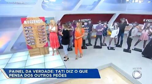 Tati Dias com Ana Hickmann e Ticiane Pinheiro no Hoje em Dia (Reprodução: Record TV)