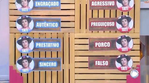 Tati Dias participa do Hoje em Dia e precisa dar adjetivos para peões de A Fazenda 11 (Reprodução: Record TV)