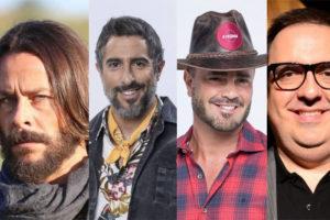 Théo Becker xinga Marcos Mion e Rodrigo Carelli e acusa Rodrigo Phavanello em A Fazenda 11 (Montagem: TV Foco)
