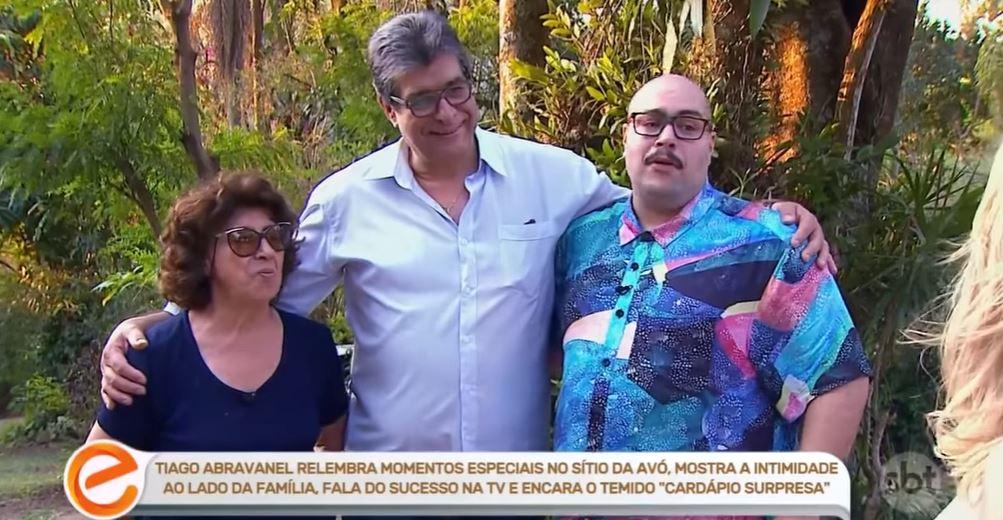 Tiago Abravanel, Paulo e a avó, Dona Alice (Foto: Reprodução/YouTube)