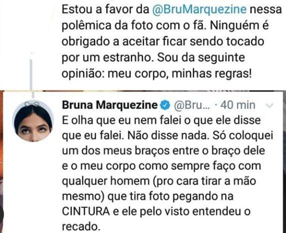 Bruna Marquezine se pronuncia sobre polêmica envolvendo fã (Foto: Reprodução)