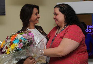 Catia Fonseca ouviu história emocionante durante evento em empresa (Foto divulgação)