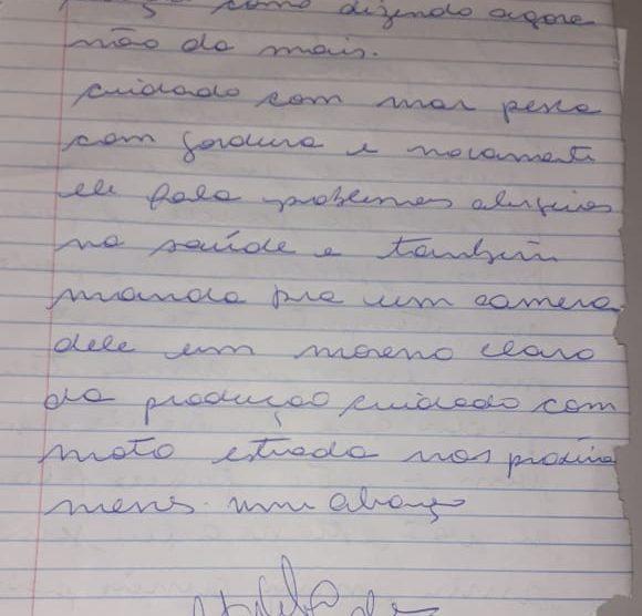 Continuação do relato (Foto: Érica Dias)