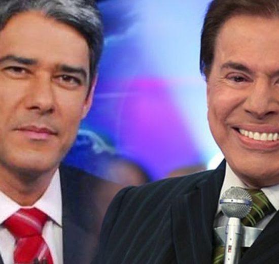 William Bonner aparece em programa de Silvio Santos para debochar de matéria (Montagem: TV Foco)