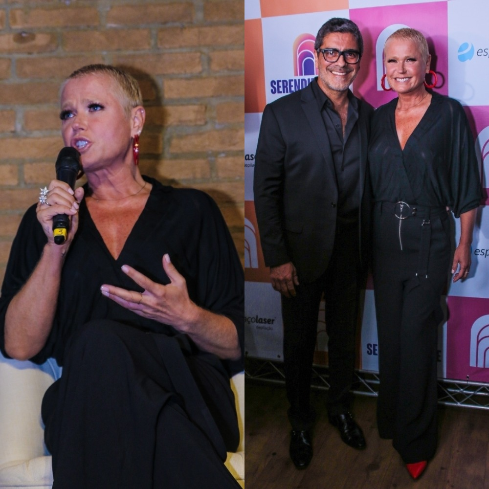 Xuxa Meneghel e Junno Andrade (Foto: Thiago Duran/AgNews/Montagem TV Foco)