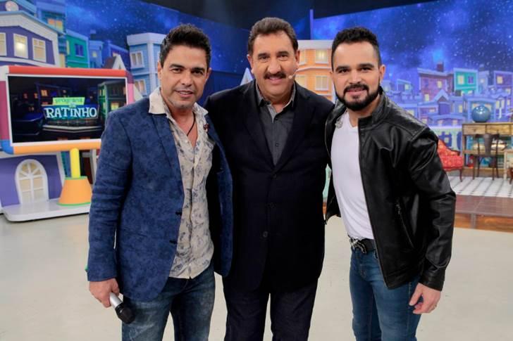 Zezé, Ratinho e Luciano. Foto: Reprodução camargo