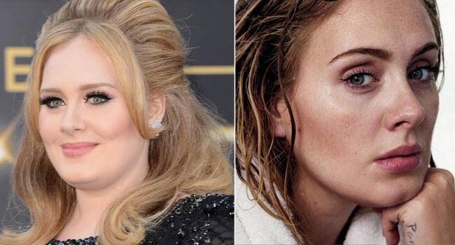 Adele aparece irreconhecível e surpreende por aparecer muita magra (Foto: Reprodução)