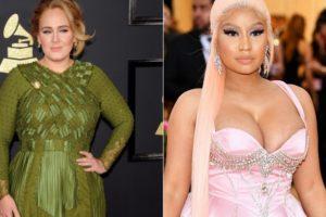 Adele e Nicki Minaj vão fazer parceria e deixam os fãs muito ansiosos para o lançamento do single (Foto: Reprodução)