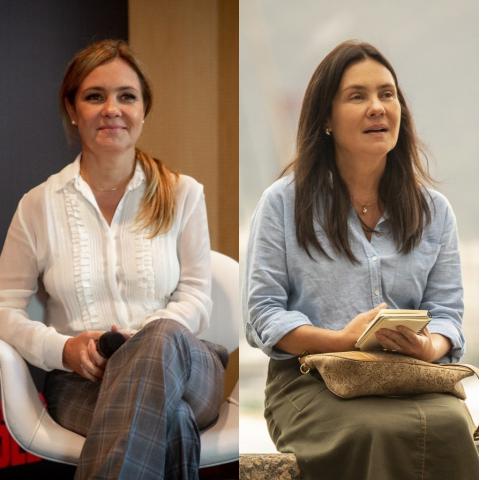 Adriana Esteves ficou morena para viver Thelma em Amor de Mãe (Foto: Divulgação/Montagem/Fabiano Battaglin e João Cotta)