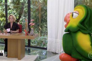 Ana Maria Braga comete gafe ao vivo na manhã de hoje no Mais Você. Foto: Reprodução/Globo