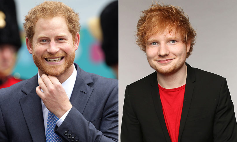 Príncipe Harry e Ed Sheeran se unem para a realização de uma campanha sobre a saúde mental (Foto: Reprodução)