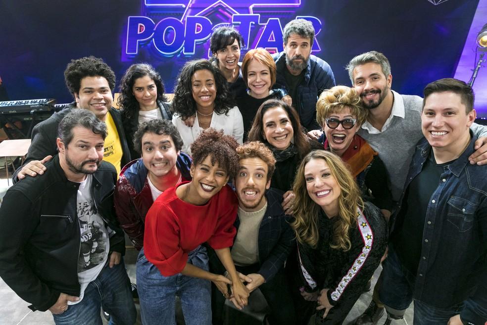 Taís Araújo que comanda o PopStar com os participantes da nova temporada (Reprodução: TV Globo)