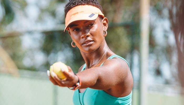 Erika Januza será a tenista Marina em Amor de Mãe, próxima novela das nove da Globo (Foto: Globo/Isabella Pinheiro)