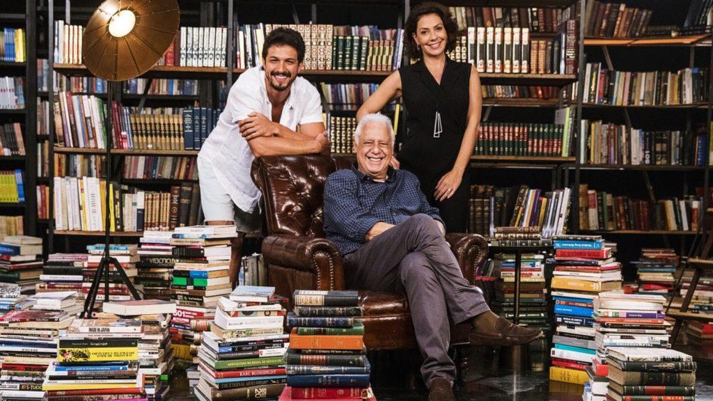 Alberto com Nana e Marcos que são apaixonados por livros e donos da editora Prado Monteiro
