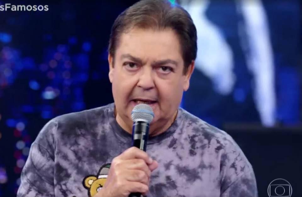 O apresentador Faustão confrontou Walcyr Carrasco em rede nacional (Foto: Reprodução)
