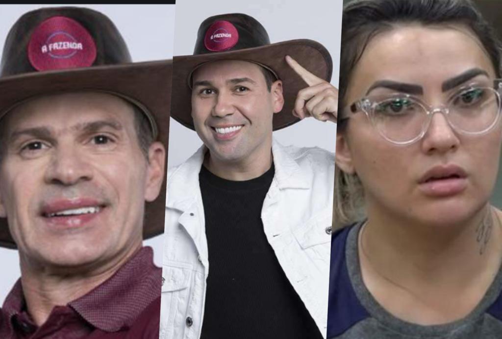Thaysse, Viny Vieira e Túlio Maravilha estão na roça da Fazenda 11
