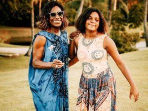 Gloria Maria e a filha Maria (Foto: Reprodução)