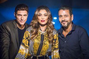 Maria da Paz (Juliana Paes) com Régis (Reynaldo Gianecchini) e Amadeu (Marcos Palmeira) em A Dona do Pedaço (Foto: Globo/Paulo Belote)