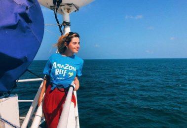 A atriz Giovanna Lancellotti fez uma espécie de afronta ao presidente Jair Bolsonaro (Foto: Reprodução)