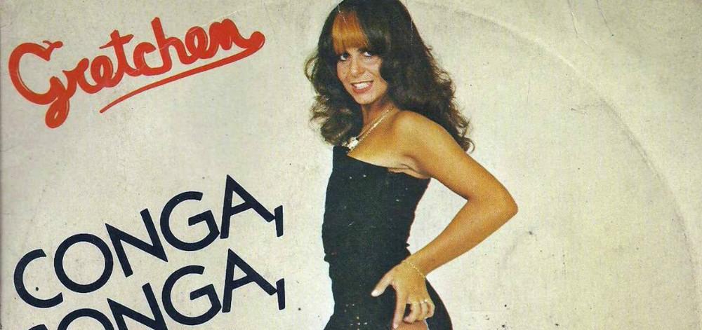 A cantora Gretchen em capa de LP do início da sua carreira; ela foi ensinada a não cantar, só rebolar. Foto: Reprodução/Notícias da TV