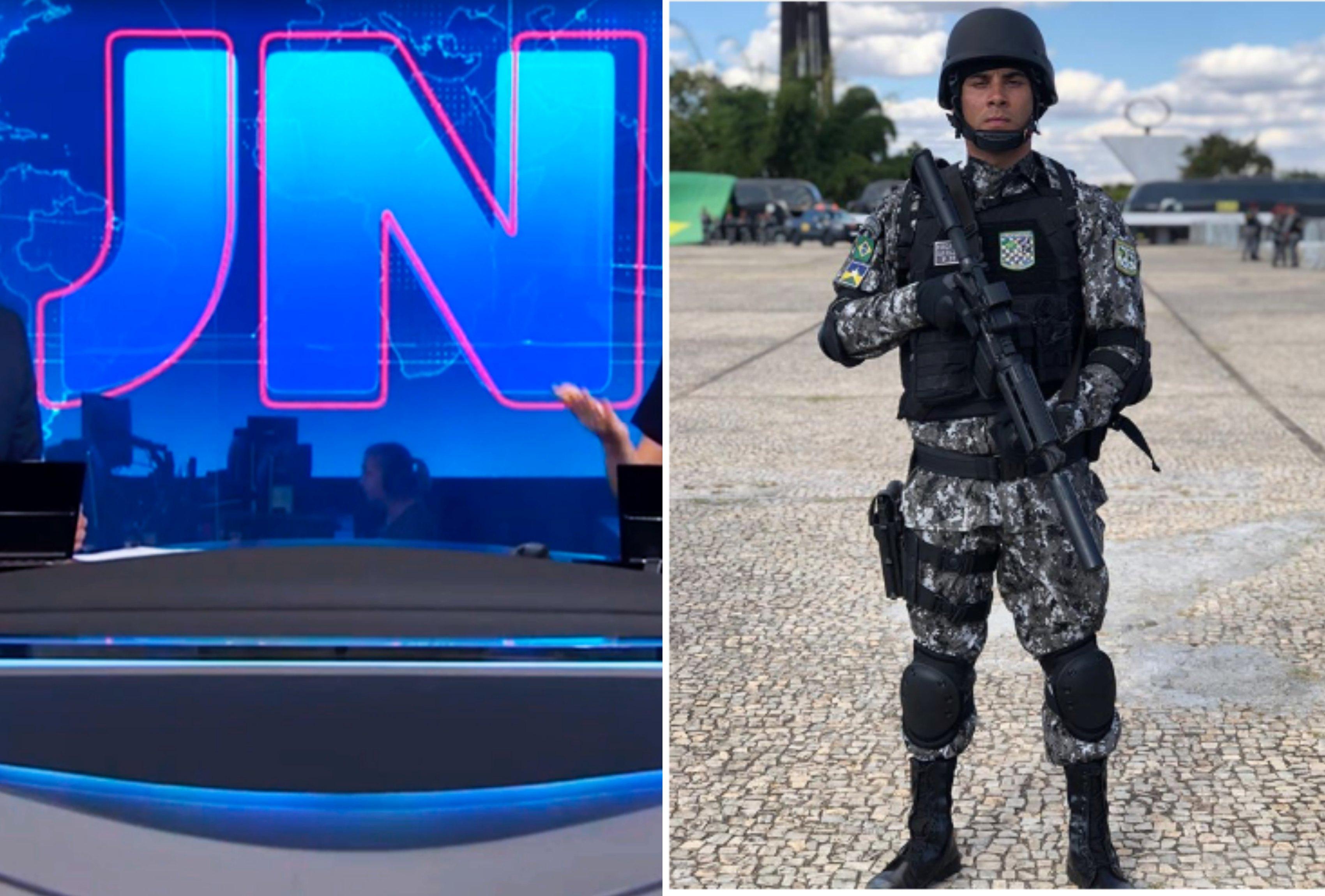 O âncora do Jornal Nacional trocou declarações com seu suposto namorado nas redes sociais. Foto: reprodução/Montagem: TVFoco