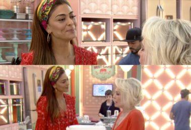 Ana Maria Braga invadiu os estúdios de A Dona do Pedaço da Globo