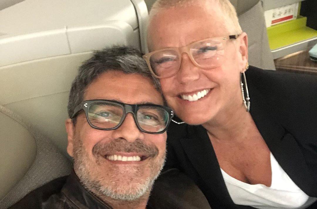 O marido da apresentadora da Record, Xuxa Meneghel, Junno Andrade da Globo, se recupera de acidente (Foto: Reprodução/Instagram)