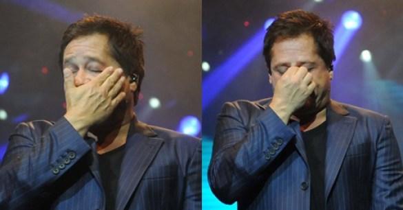O cantor Leonardo fez anúncio junto com Zé Felipe após descoberta de doença (Foto reprodução)