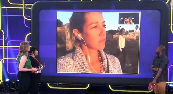 """Luana Piovani desmoraliza e esculacha Fernanda Gentil em transmissão ao vivo na Globo: """"Eu fui clara"""" - Foto: reprodução Globo"""