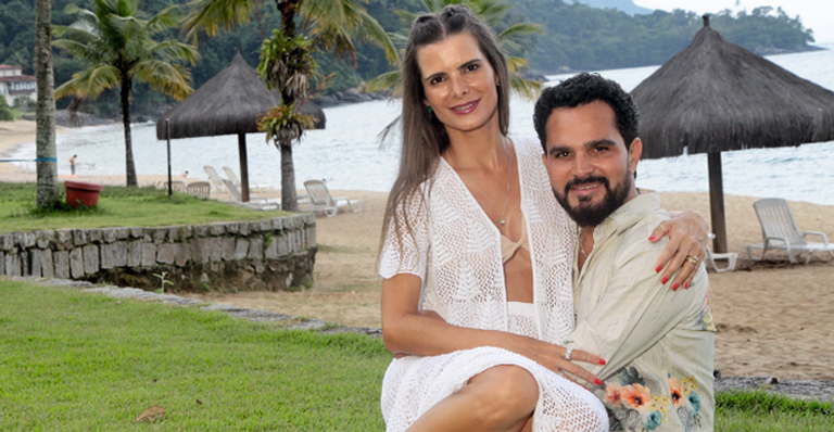 Luciano é casado com Flávia Camargo (Foto: Reprodução)
