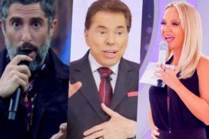 Marcos Mion, Silvio Santos e Eliana receberam previsões de famosa sensitiva (Foto montagem: TV Foco)