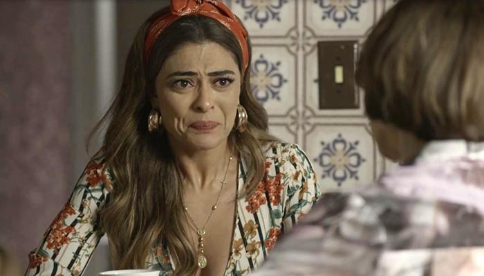 Maria da Paz (Juliana Paes) vai encobrir crime de Josiane (Agatha Moreira) em A Dona do Pedaço (Foto: Reprodução/Globo)