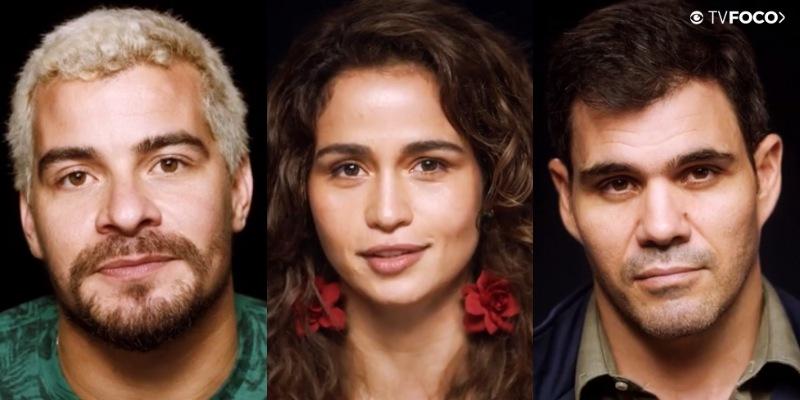 Thiago Martins, Nanda Costa e Juiano Cazarré (Foto: Montagem/ TV Foco)