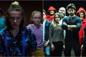 Stranger Things e La Casa de Papel registram audiência impressionante na Netflix. (Foto: Montagem/Divulgação)