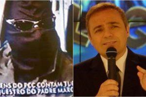 Em 2003, Domingo Legal, comandado por Gugu exibiu entrevista com falsos membros de facção criminosa. (Foto: Montagem/Reprodução)