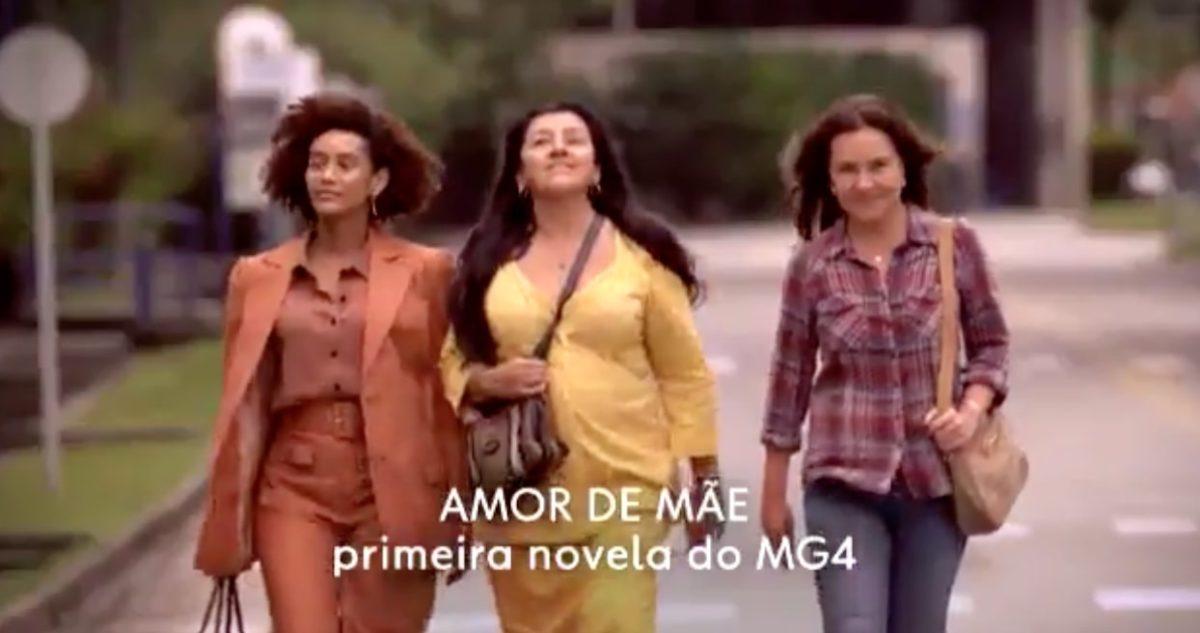 Taís Araújo, Regina Casé e Adriana Esteves são as protagonistas de Amor de Mãe da Rede Globo (Reprodução: TV Globo)