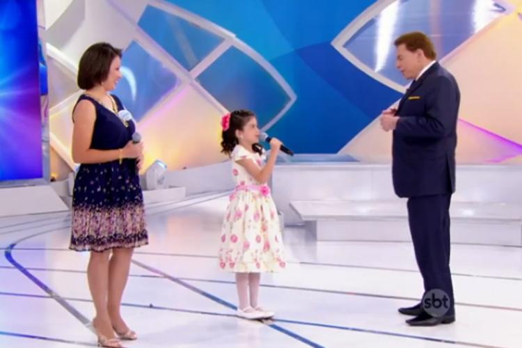 Silvio Santos fez pergunta a menina (Foto: Reprodução)