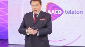 O dono do SBT, Silvio Santos, pela primeira vez na história do teleton, não pôde participar da apresentação da atração que arrecada fundos para a AACD - Foto: reprodução