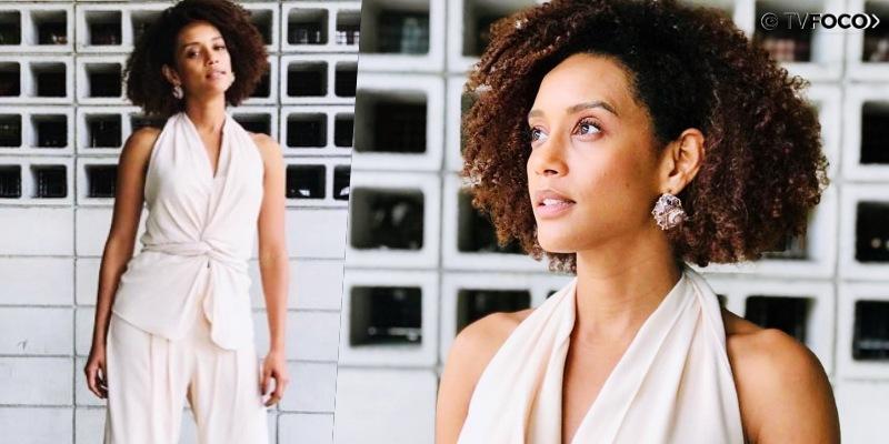 Fotomontagem da atriz Taís Araujo que será protagonista da novela Amor de Mãe