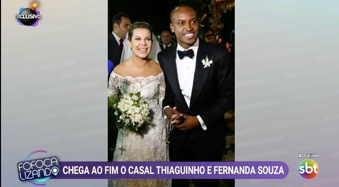Leo Dias comenta término de Thiaguinho e Fernanda Souza. Foto: Reprodução/SBT
