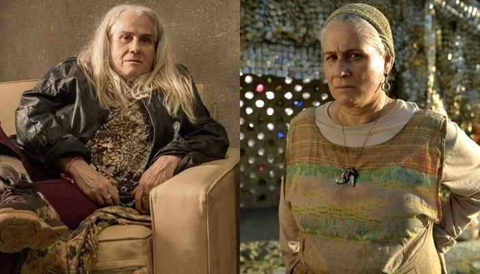 Vera Holtz como Kátia atualmente e como Lucinda na trama de João Emanuel Carneiro (Foto: Globo João Cotta/Renato Rocha Miranda)