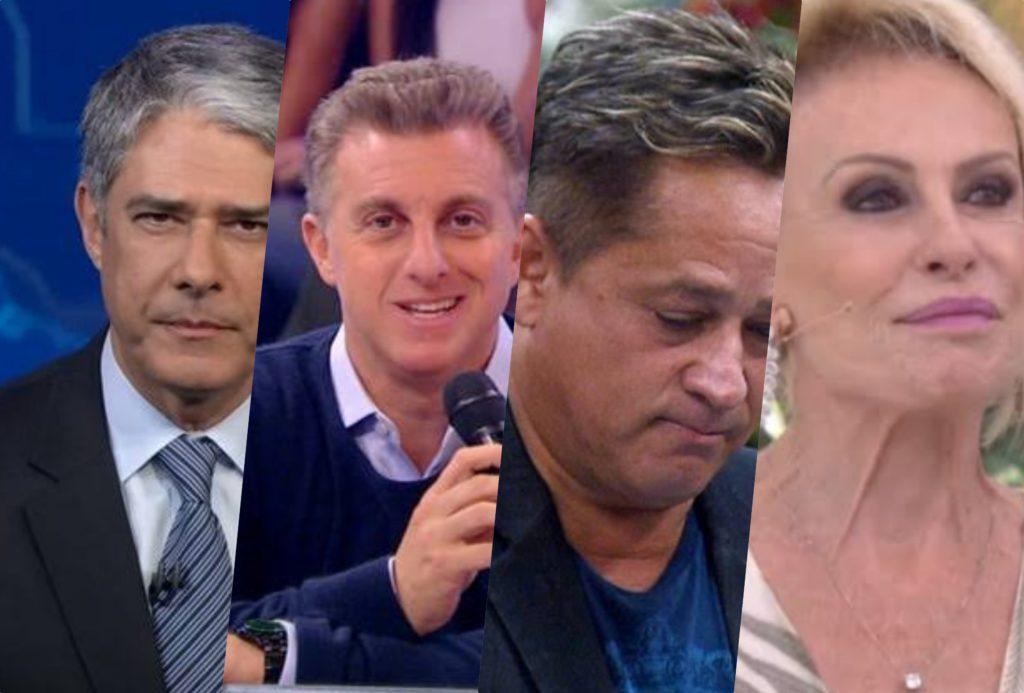 Sensitiva famosa fez previsões para William Bonner, Luciano Huck, Leonardo e Ana Maria Braga (Foto montagem: TV Foco)