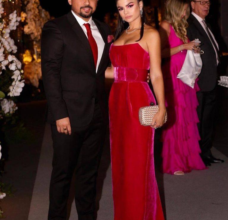 Xand Avião e sua mulher Isabele Temoteo no casamento em Uberlândia (Imagem: Instagram)