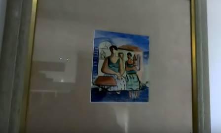 Uma obra de Di Cavalcanti na mansão de Hebe Camargo Foto: reprodução de vídeo