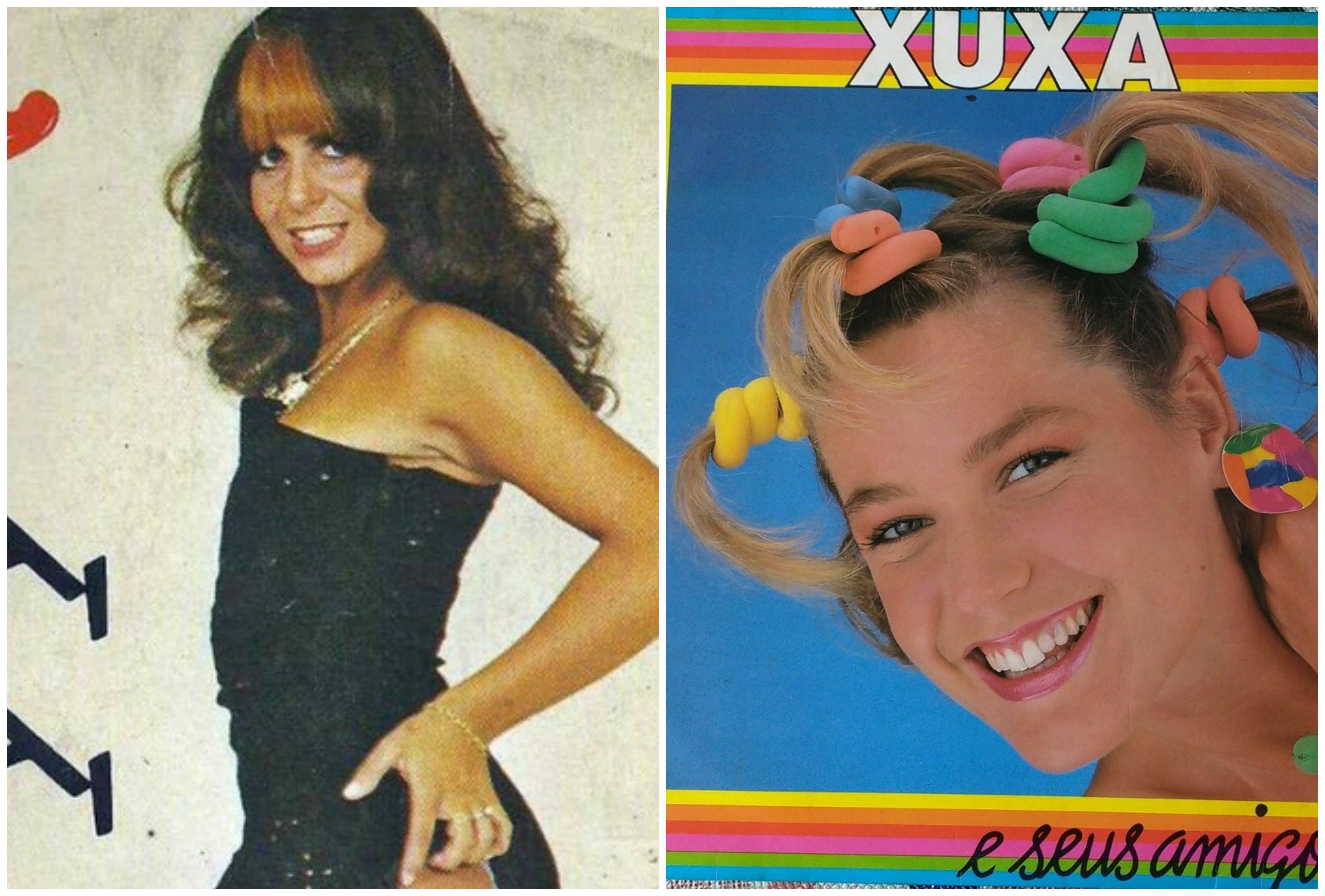 Gretchen e Xuxa em suas primeiras produções. Foto: Reprodução